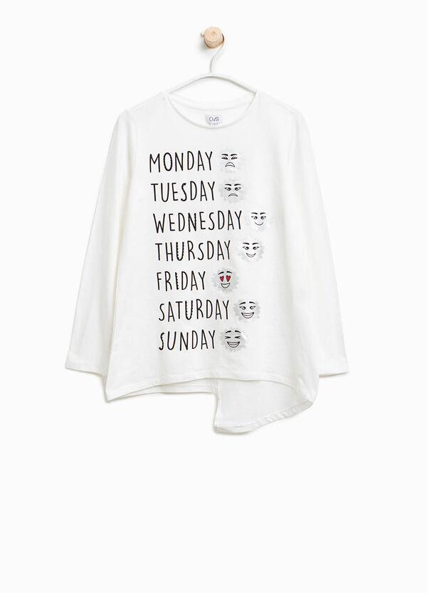 T-Shirt Baumwolle Buchstabenaufdruck | OVS
