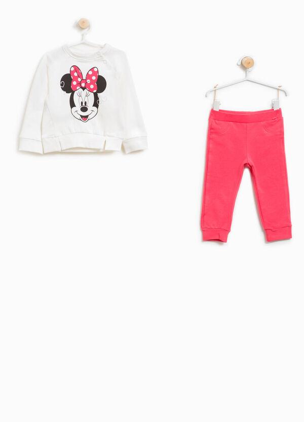 Jogginganzug Baumwollstretch Minnie mit Glitter