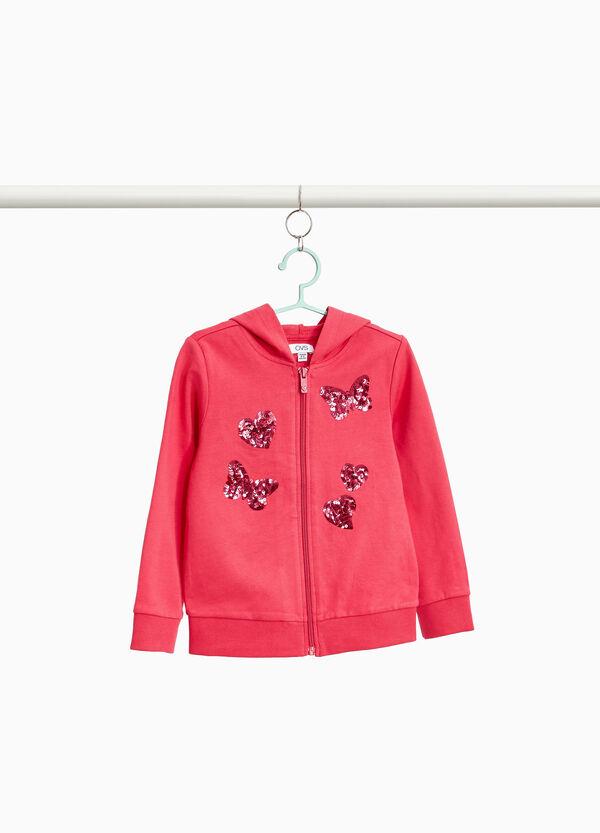 Sweatshirt reine Baumwolle mit Pailletten