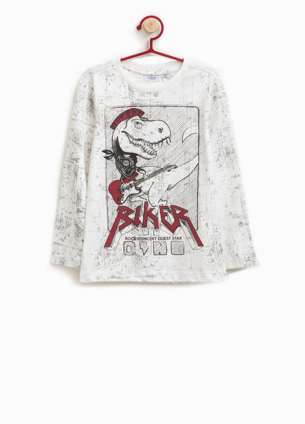 T-Shirt aus Baumwolle Aufdruck und Muster | OVS