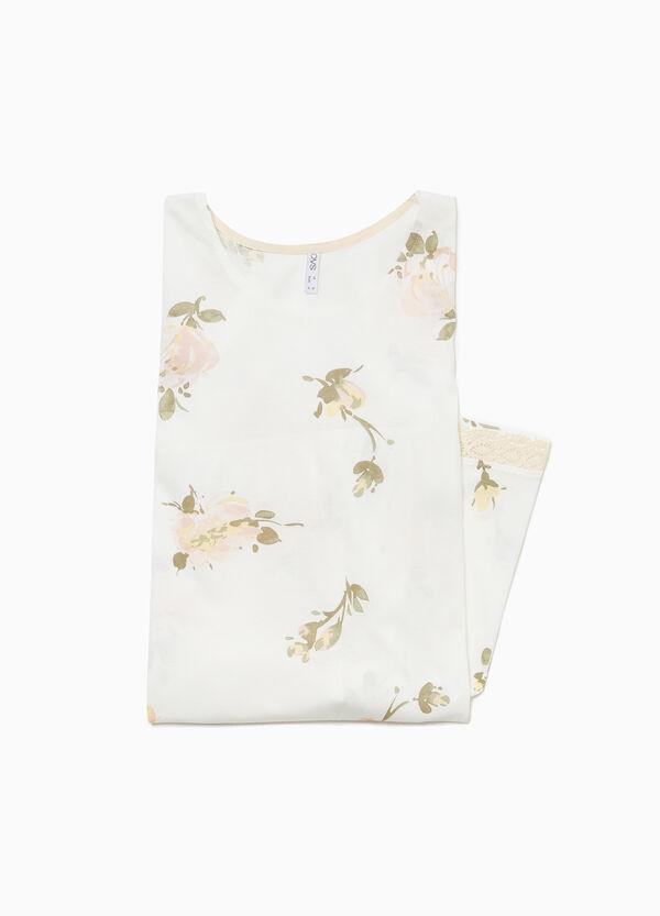 Nachthemd reine Baumwolle Blumen