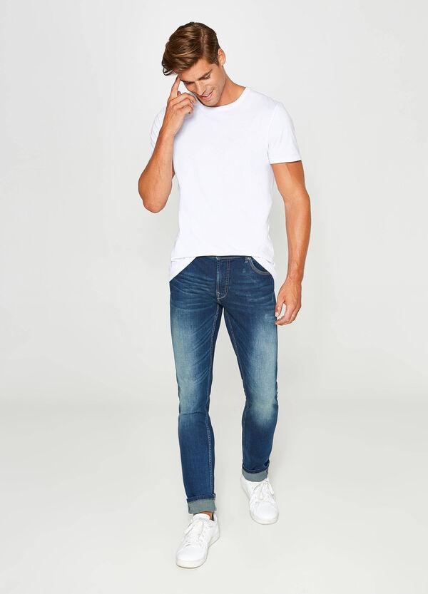 Stretch-Jeans Skinny Fit mit entfärbter Optik | OVS