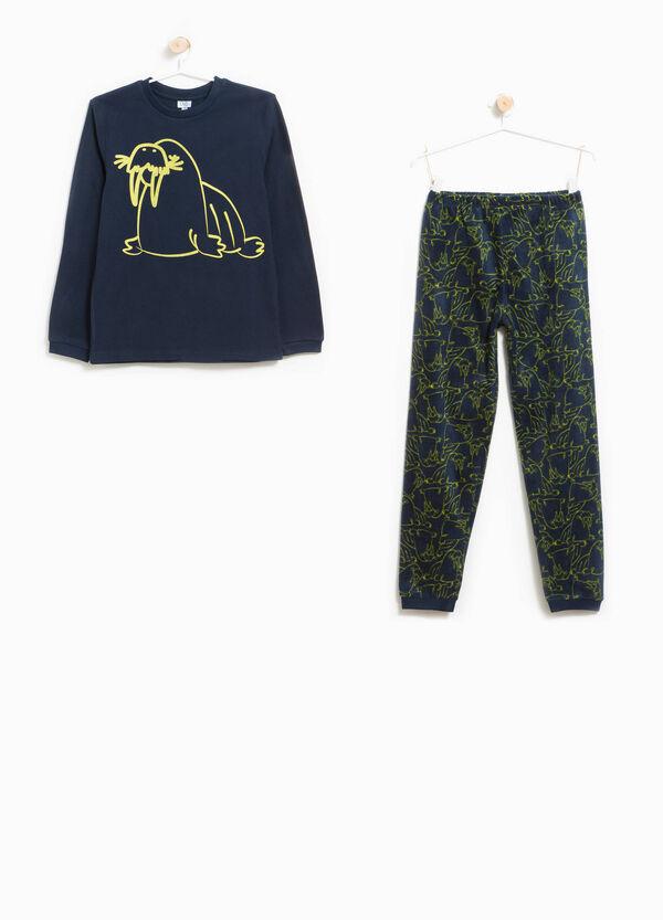 Pyjama aus Fleece Muster und Aufdruck Walross | OVS