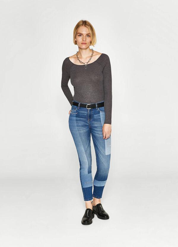 Stretch-Jeans Skinny Fit mit Buchstabenstickerei | OVS