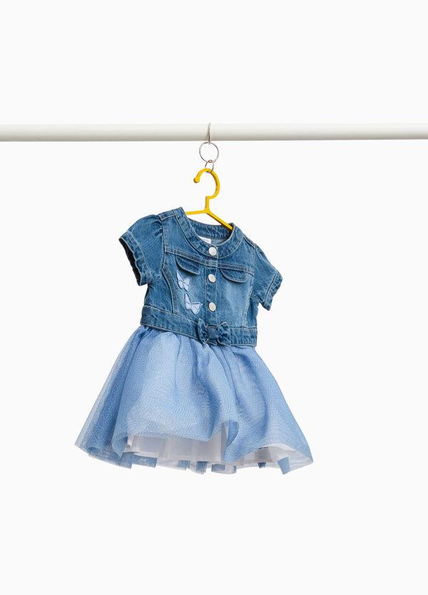 Jeans-Kleidchen mit Tüllrock