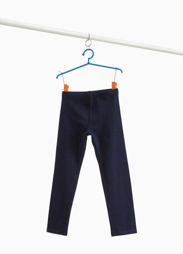 Capri-Leggings Baumwolltwill Stretchqualität