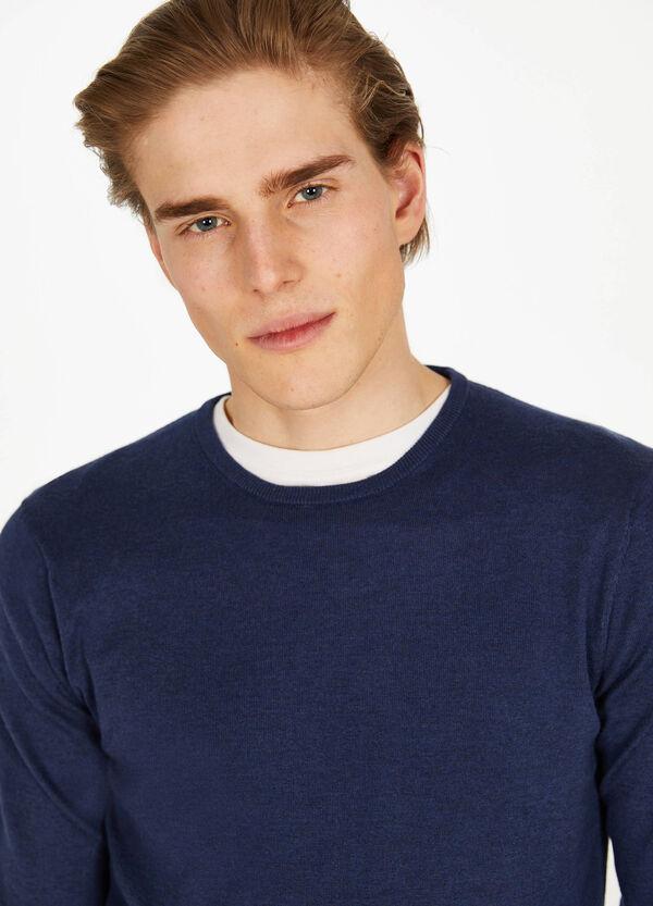 Pullover aus Seide und Baumwolle