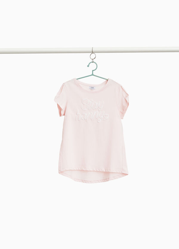 T-Shirt reine Baumwolle mit Flügelärmeln