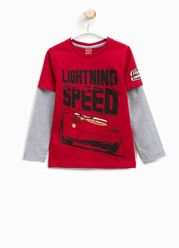T-Shirt aufgesetzte Doppelkante Aufdruck Cars | OVS