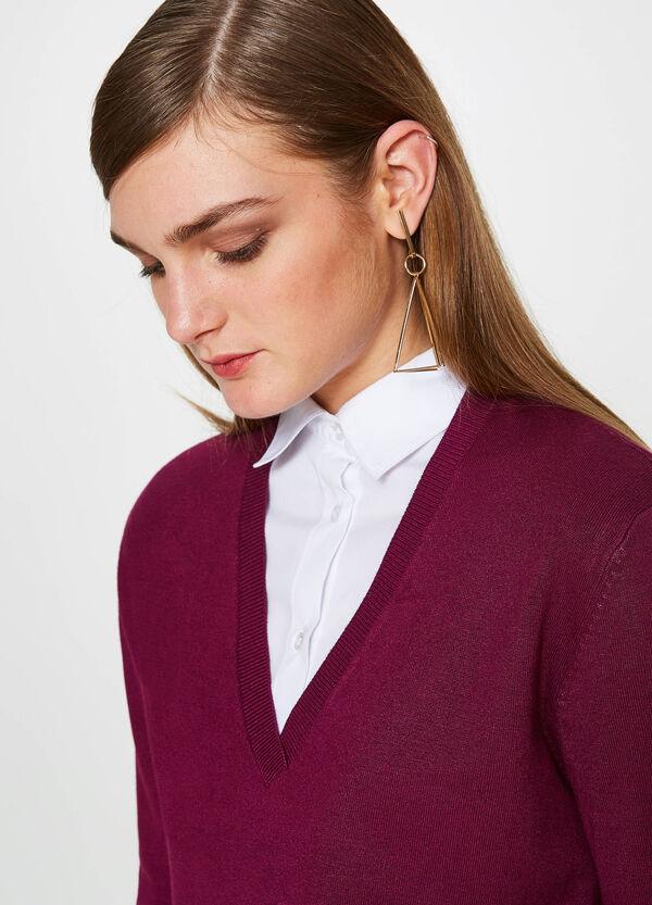 Pullover aus Viskose-Mix V-Ausschnitt | OVS