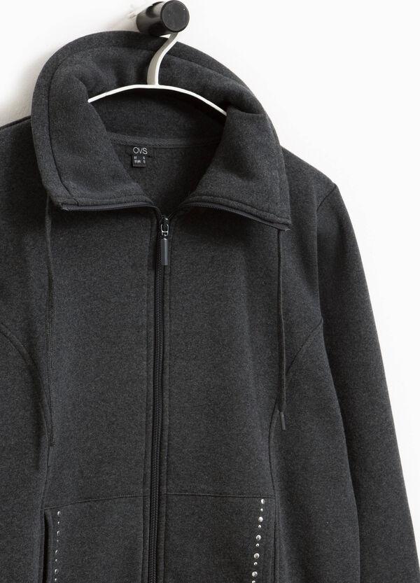 Sweatshirt Baumwoll-Mix Stehkragen Nieten | OVS