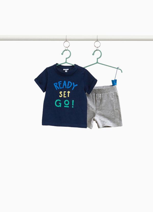 Garnitur T-Shirt kurze Hosen Lettering
