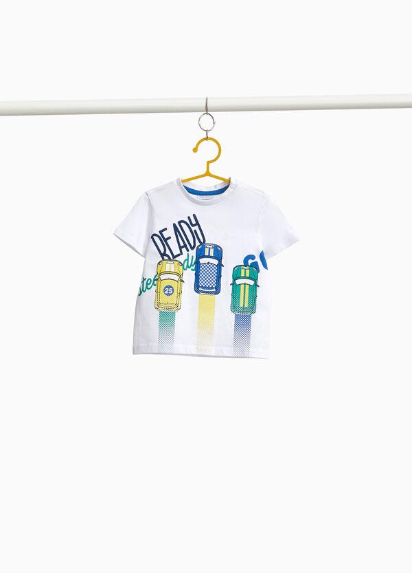 T-Shirt mit Maxi-Aufdruck kleine Autos