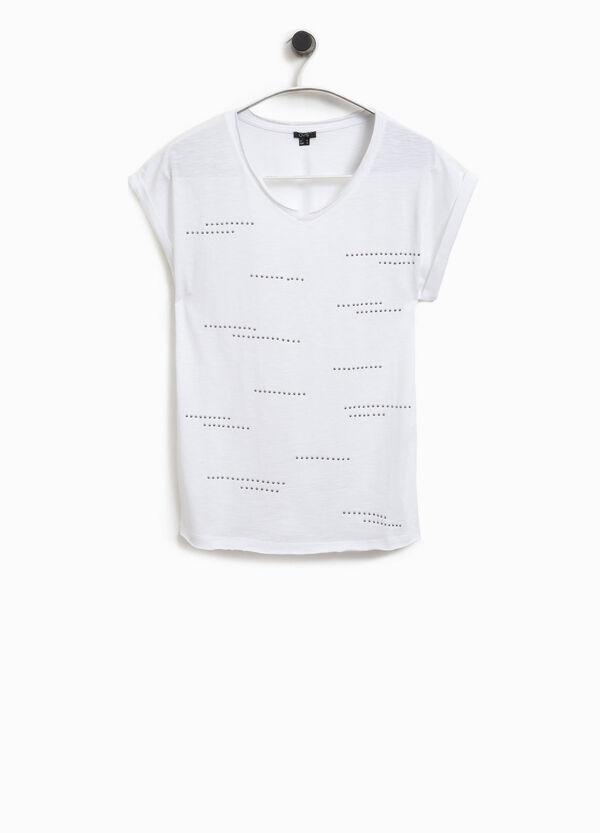 T-Shirt mit Nieten aus Baumwolle Smart Basic | OVS
