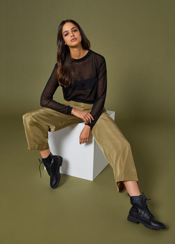 Crop-Sweatshirt aus Netzstoff K+K for OVS