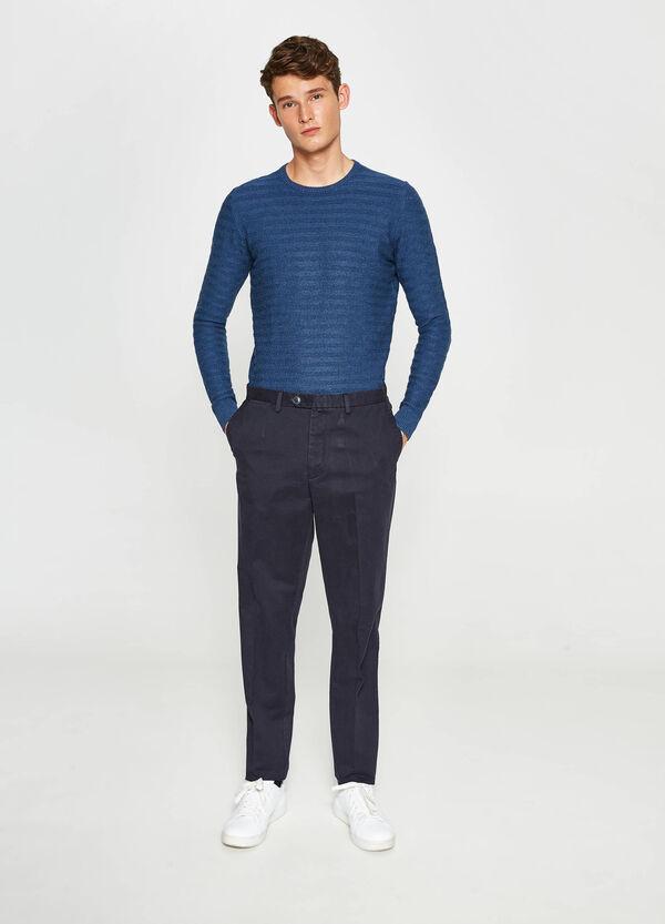 Hose mit Bundfalte aus reiner Baumwolle