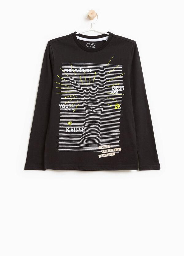 T-Shirt aus reiner Baumwolle Maxi-Aufdruck | OVS