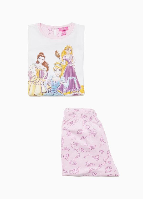 Pyjama Baumwolle Aufdruck Disney Princess