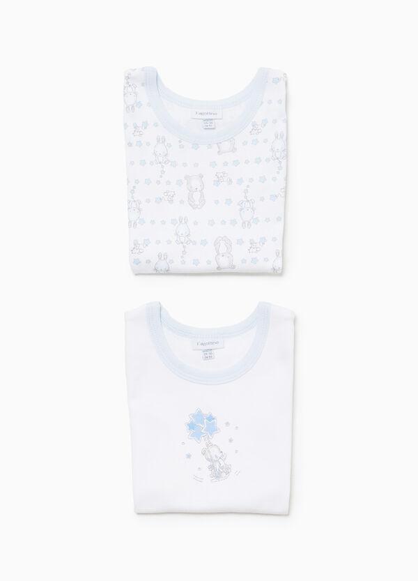 Set zwei Unterhemden Muster