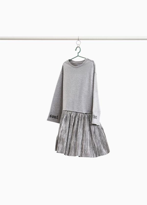 Kleidchen aus Baumwolle Plissee-Rock