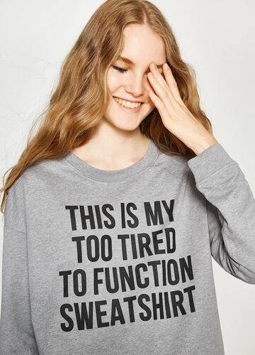 Crop-Sweatshirt aus Baumwolle mit Aufdruck