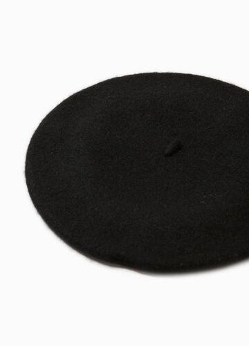 Baskenmütze aus Wolle einfarbig