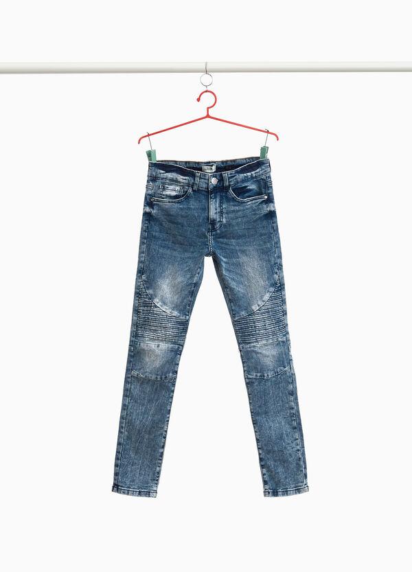 Stretch-Jeans Slim Fit mit Steppnähten