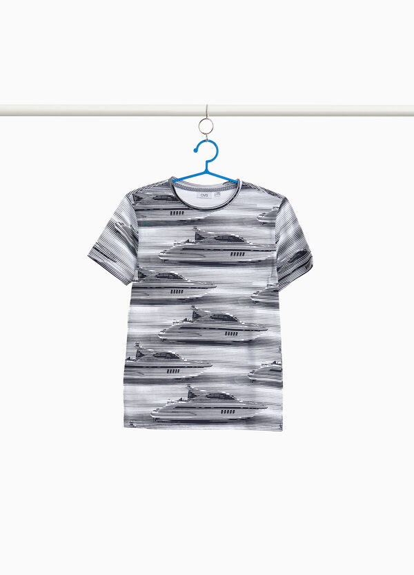 T-Shirt Muster Yatch gestreift