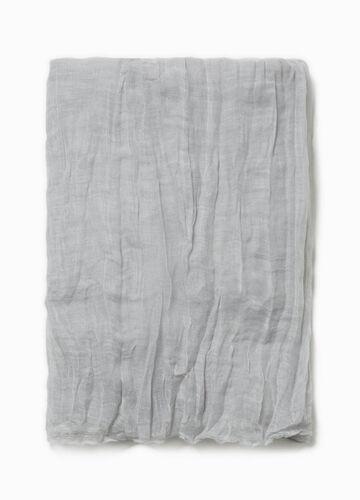 Einfarbiger Schal Knitter-Look