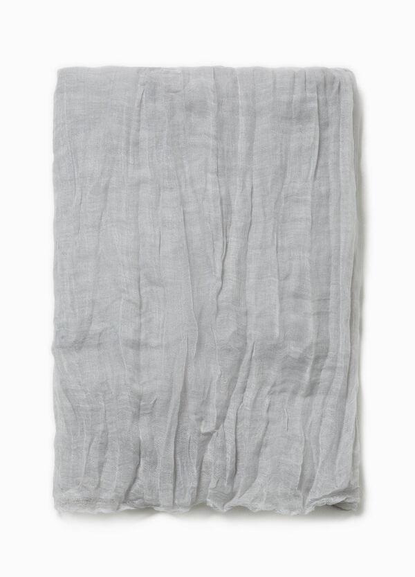 Einfarbiger Schal Knitter-Look | OVS