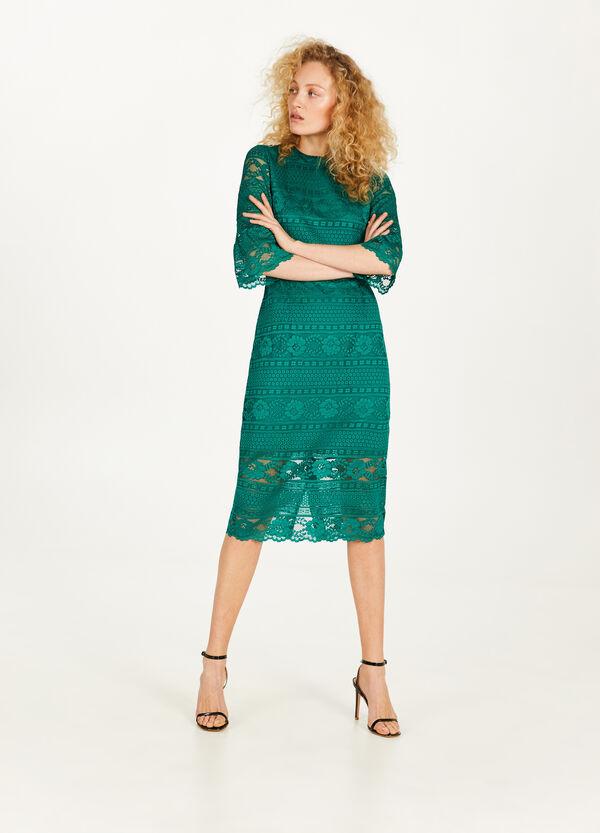 Kleid aus Spitze aus Viskosemix