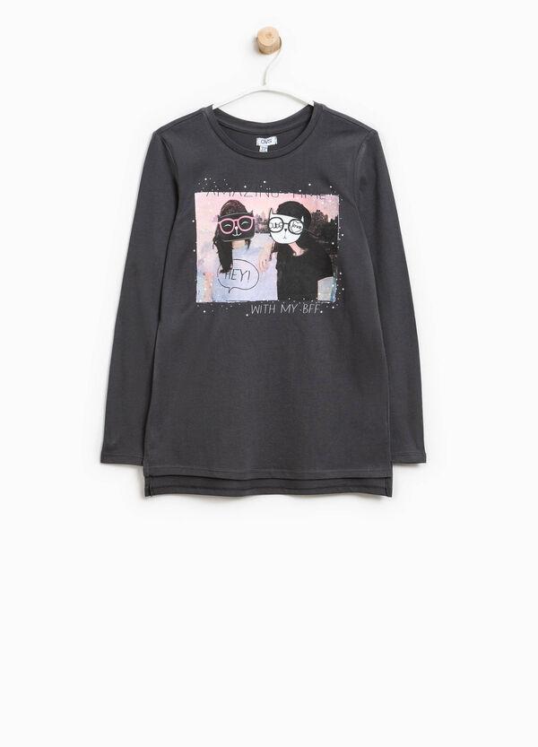 Bedrucktes T-Shirt aus reiner Baumwolle | OVS