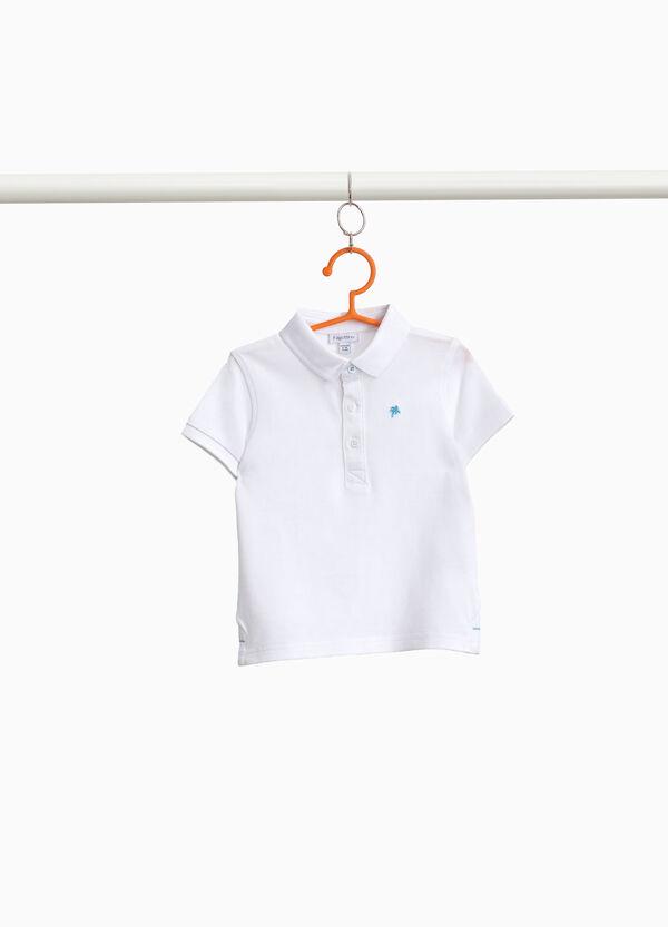 Einfarbiges Polo-Shirt Pikée aus Baumwolle