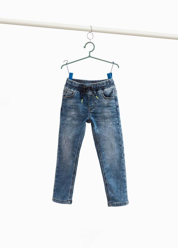Jeans Jogger Fit mit Used-Effekt und Destroyed-Stellen