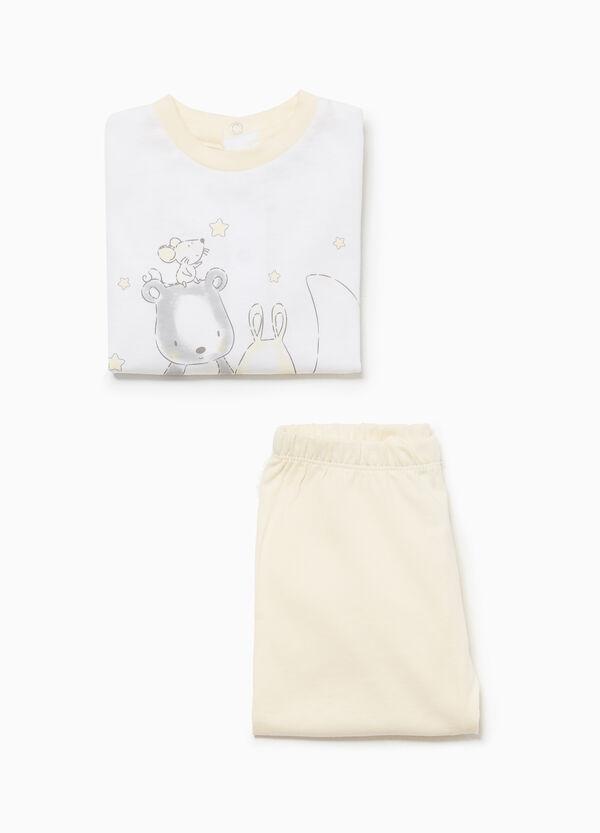 Pyjama reine Baumwolle mit Aufdruck