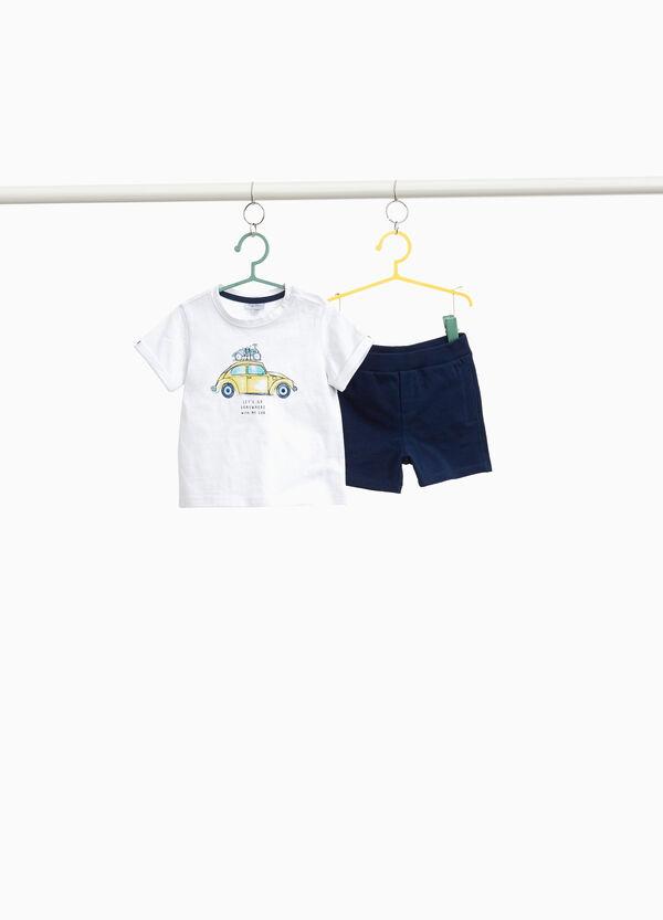 Garnitur T-Shirt kurze Hosen Baumwolle